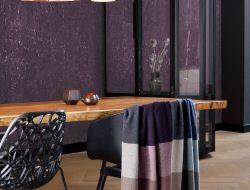 Biederlack variation purple cashemere pléd, kasmír és gyapjú pléd